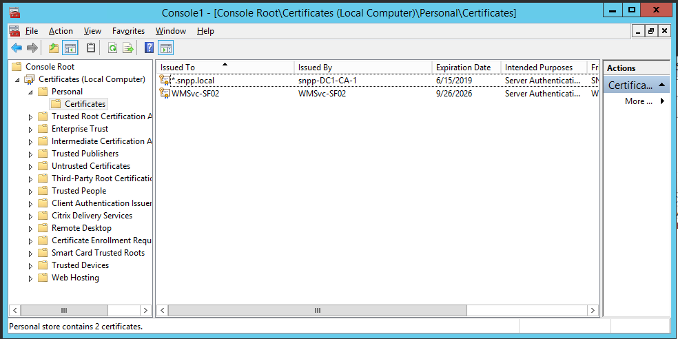 Microsoft Certificate Authority For Xenapp Xendesktop Xenmobile
