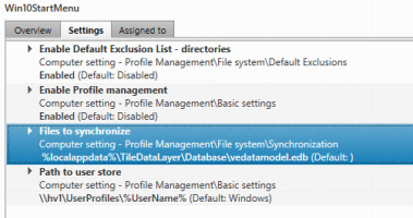 Sync the Windows 10 Start Menu in VDI – Ask the Architect